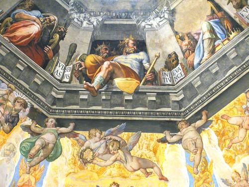 """Frescos del """"Juicio Final"""" de Vasari"""