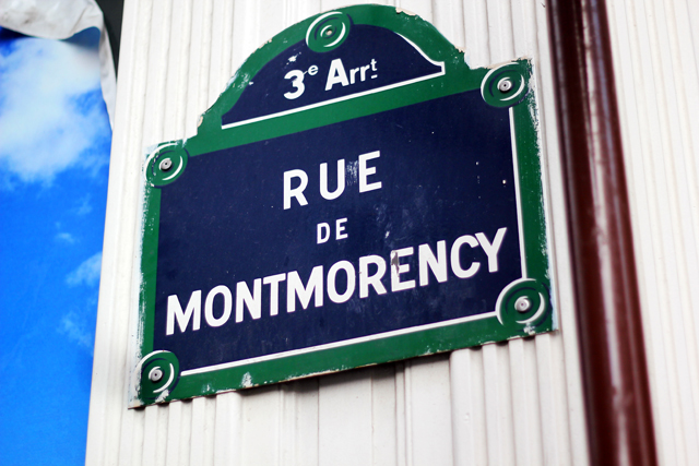 rue de montmorency paris