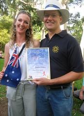 2007 0126 Gawler Corporate Citizen of the year 2007  - Matthew Sanders