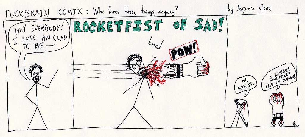 Fuckbrain Comix - Rocketfist of Sad
