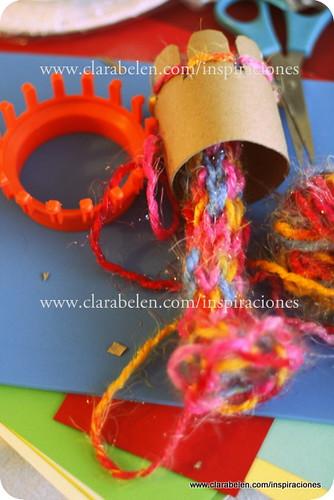 Tejer con los niños. Fabricar nuestra propia tejedora