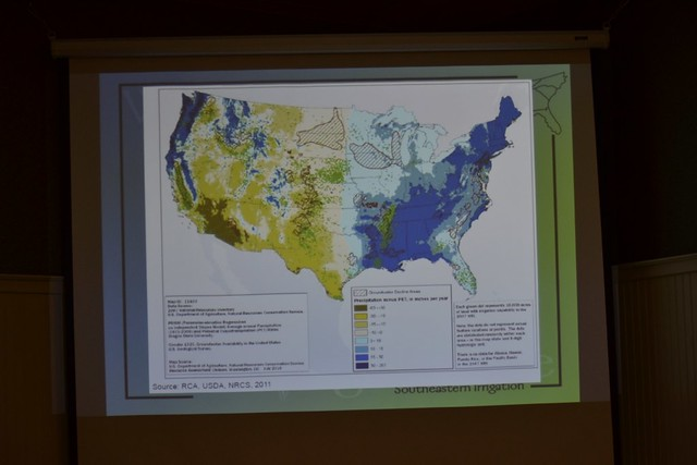 Precipitation map from United States Department of Agriculture, Natural Resource Conservation Service,