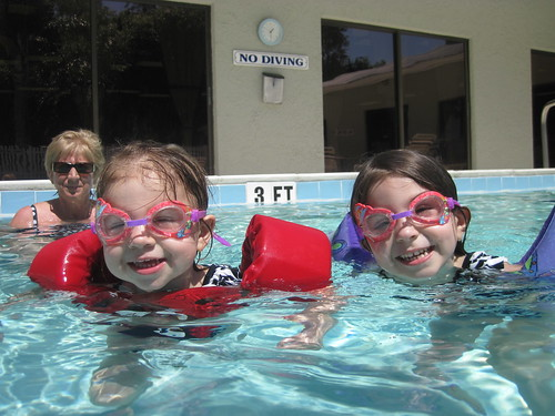 Girls in goggles