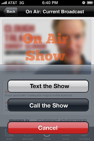 Message the On-Air Show