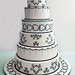 Sheryn and Mike's Wedding Cake by Rouvelee's Creations