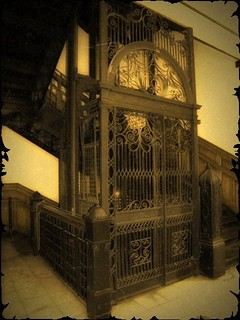 Oil City PA ~ National Trust Building ~ Original Cage Elevator opertated by water pressure