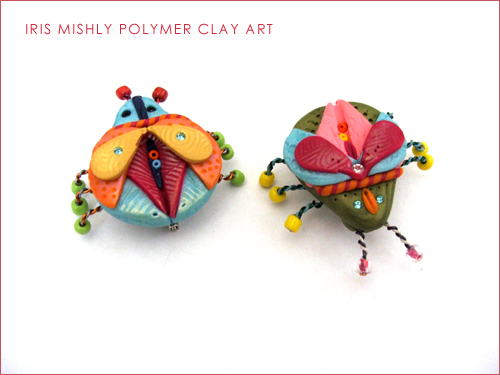 Polymer Clay Bug Pins | by Iris Mishly