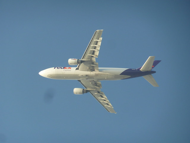 FedEx - Federal Express Airbus A 300-600F cargo jet N660FE seconds after take-off from LAX