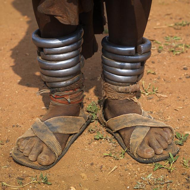 Hamer woman anklets - Omo Ethiopia