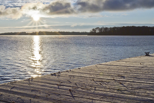 ontario canada cold sunrise dock frost clear stlawrenceriver