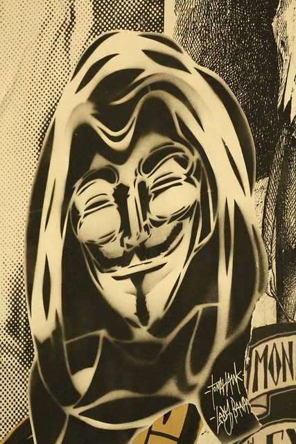 Guy Fawkes Mask - Outpost Project - Art from the streets - Cockatoo Island Sydney