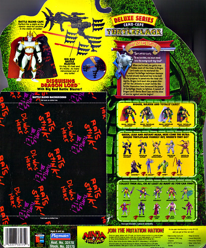 "NINJA TURTLES: THE NEXT MUTATION :: ""CAMO-CAPE TURTLEFLAGE"" DISGUISING DRAGON LORD ..card backer ii (( 1997 )) by tOkKa"