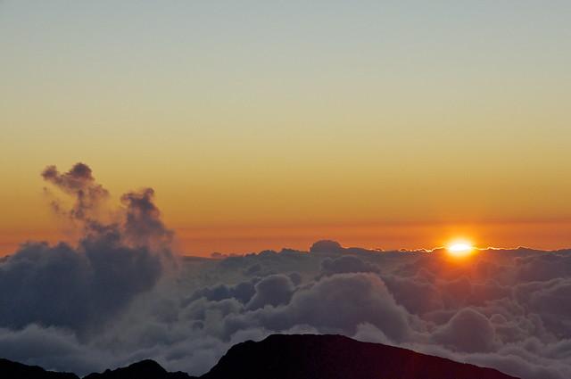 Sunrise Over The Top Of Haleakala