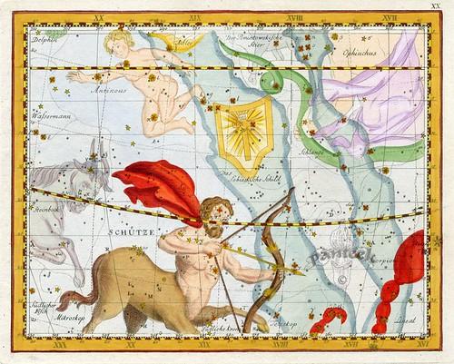 018-Sagitario-Atlas Coelestis 1795-John Flamsteed-Panteek