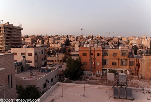 View of Amman from our window at the Canary Hotel