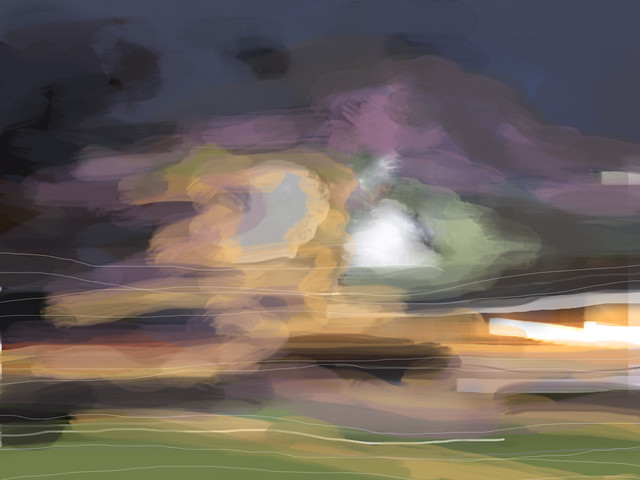 iPad drawing 303/365 - The North Wind