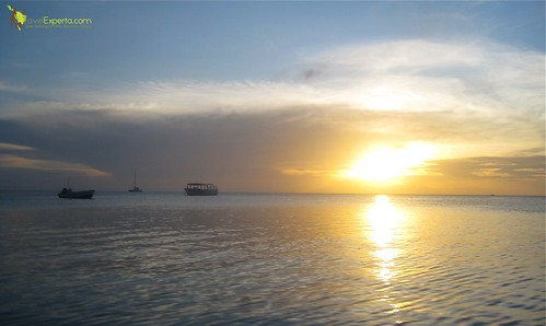 Sunset From West End and Half Moon Bay Roatan Honduras