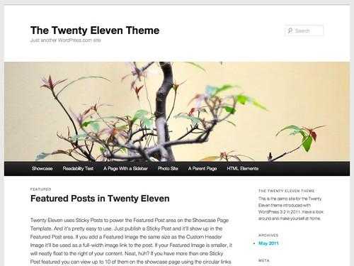 Twenty Eleven テーマ