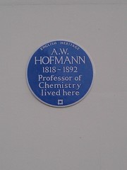 Photo of A. W. Hofmann blue plaque