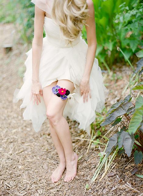 garter bridal única