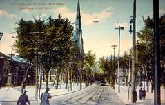 Montréal, vers 1910. La rue Saint-Denis >Nord, depuis rue Craig (Saint-Antoine).