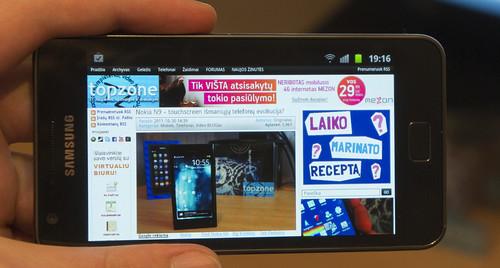 Samsung Galaxy S2   Varguolių telefonas 2012