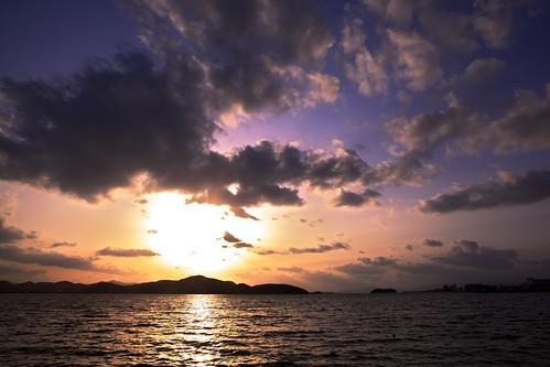 sunset sea sky cloud sun seascape color water japan tsunami getty 日本 vernal 2470l equinox project365 鳥取県 彼岸 5d2 米子市 なかうみ