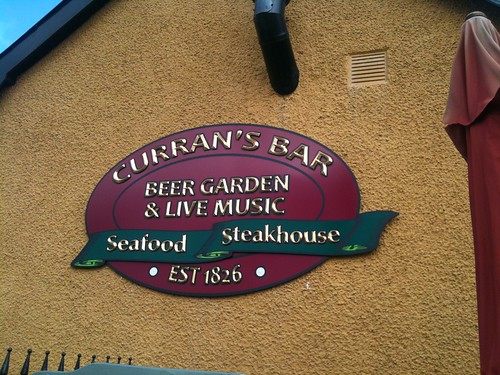 CURRAN'S BAR BESPOKE CARVED SIGN