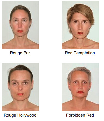 Ingrid Berthon-Moine's project, showing four white women with painted red lips
