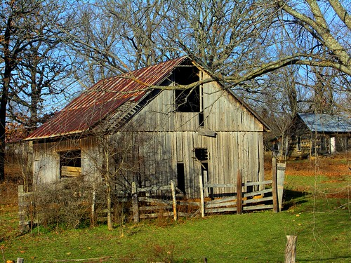 old barn landscape photography