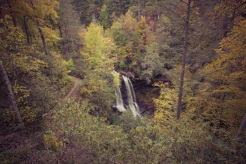 fall colors franklin nc highlands waterfalls manaskarekar