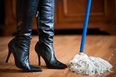 #6  Pretty shoes make chores more fun.
