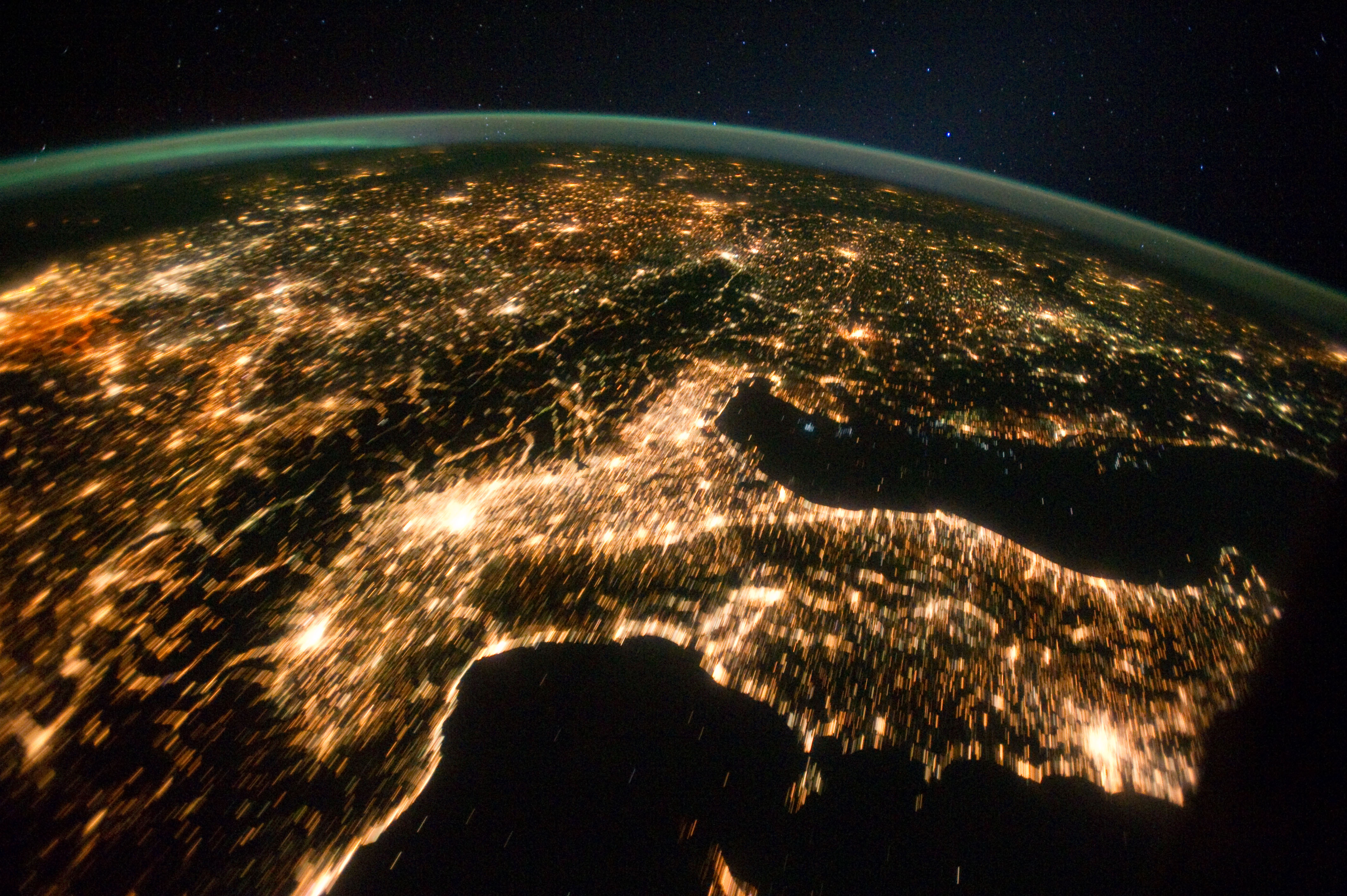 nasa night view of earth - photo #14
