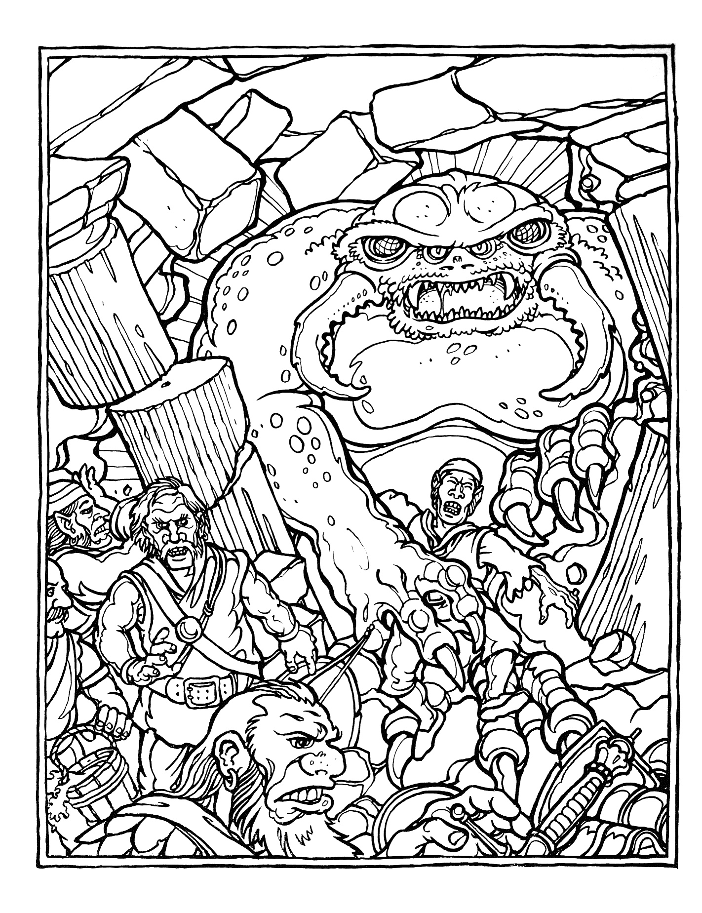 dungeons and dragons coloring pages - photo#8