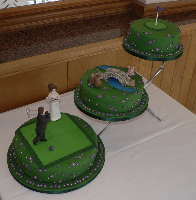 Golf Themed Cake Images : 3 Tier Golf Themed Wedding cake Flickr - Photo Sharing!