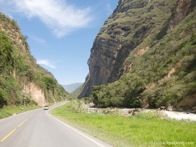 On the way to Chachapoyas in Northern Peru