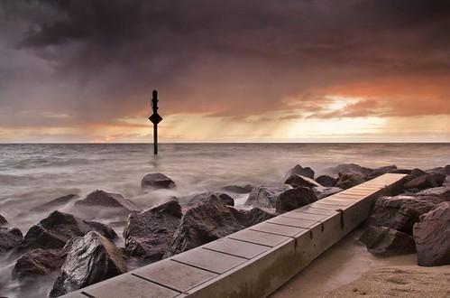 sunset sea usa storm beach gulfofmexico america canon rocks florida honeymoonisland 60d