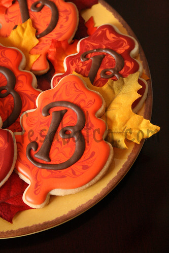 Fall Leaf Wedding Cookies.