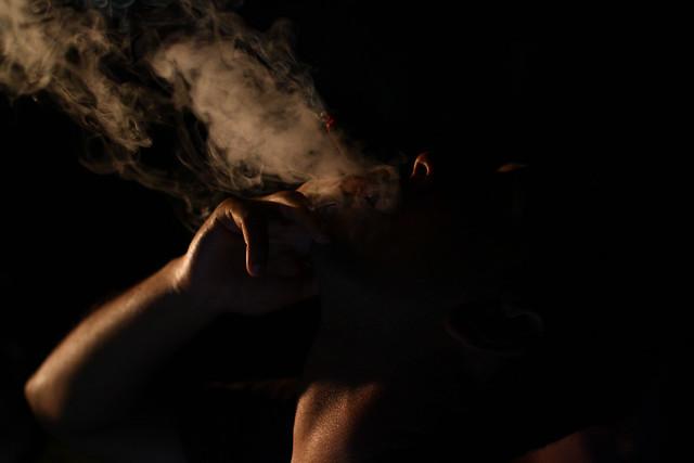 Blowing Weed Smoke In Cat Ear