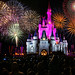 walt disney world - magic kingdom castle fireworks by Dan Anderson.