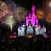 walt disney world - magic kingdom castle fireworks by Dan Anderson.