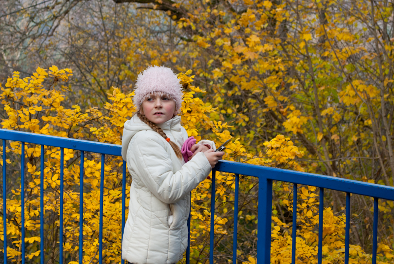 super yellow colour. Осенняя Снегурка :-D DSC_8757