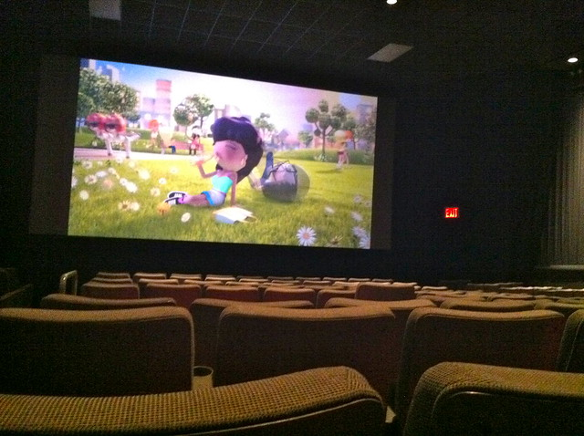 Alone in a Movie Theater from Flickr via Wylio