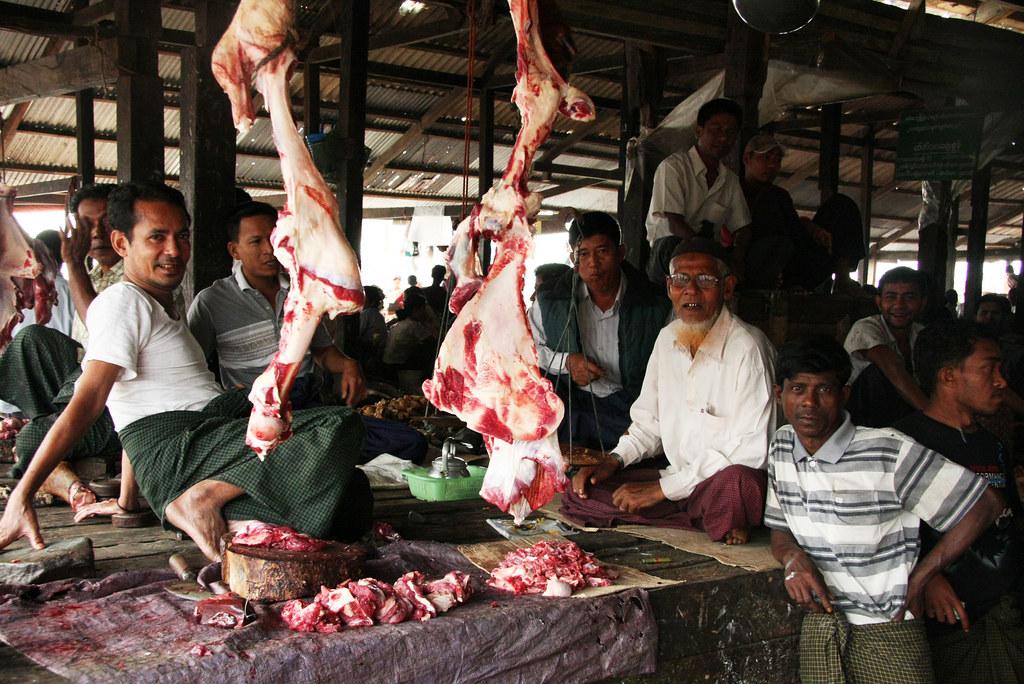 The market in Sittwe, Myanmar