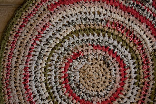 Crocheted T Shirt Rag Rug Molly Dog 39 S Finished Rag Rug