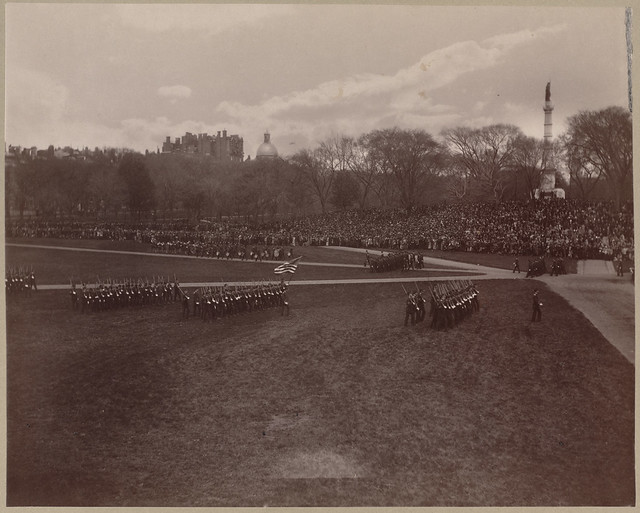 English High School battalion, marching in review on Boston Common.