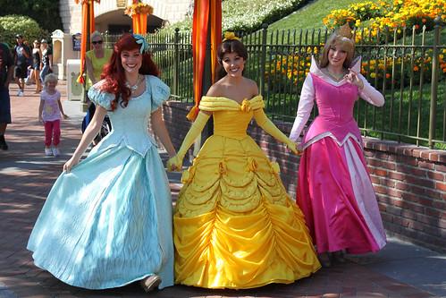 Ariel, Belle and Aurora take a stroll
