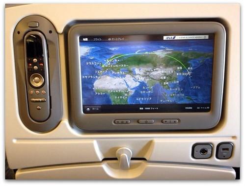 ANA個人用シートモニタのマップ画面