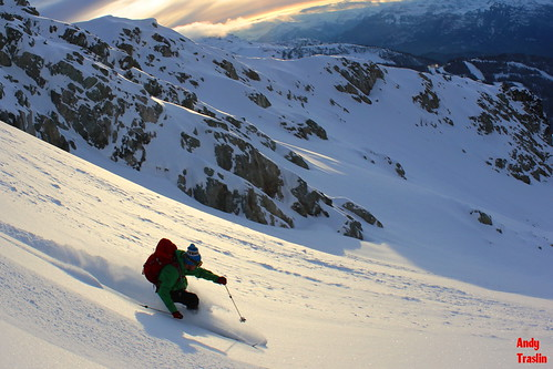 Saudan Extreme? Blackcomb British Columbia Skier Mike Traslin photo Andy Traslin Nov 4 2011