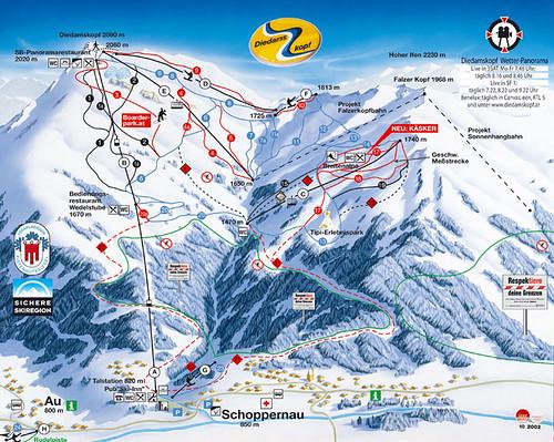 Diedamskopf - mapa sjezdovek